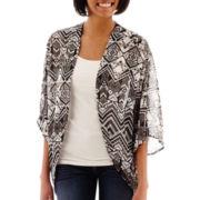 Arizona 3/4-Sleeve Woven Kimono