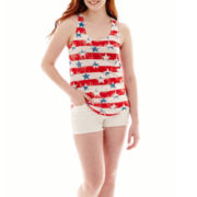 Arizona Racerback Americana Tank Top or Raw-Hem Shorts