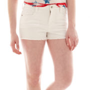 Arizona Hi-Rise Raw-Hem Shorts