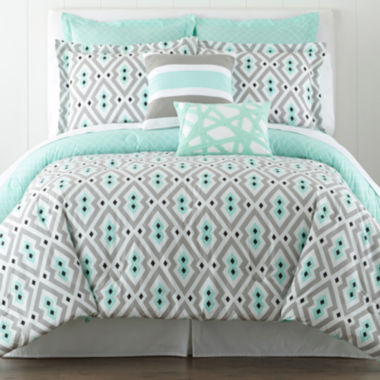 jcpenney.com | Happy Chic by Jonathan Adler Nina 3-pc. Reversible Comforter Set