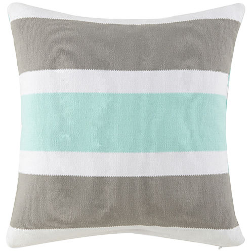 """Happy Chic by Jonathan Adler Nina 20"""" Striped Square Decorative Pillow"""
