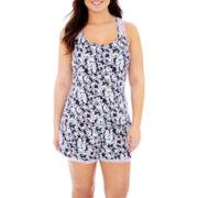 Rene Rofe® Lace-Trim Tank Top Pajama Set - Plus