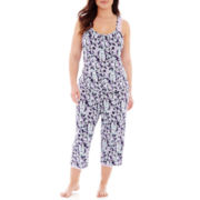 Rene Rofe® Lace-Trim Tank Top and Capris Pajama Set - Plus