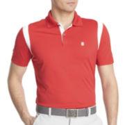IZOD® Golf Short-Sleeve Mesh-Shoulder Polo