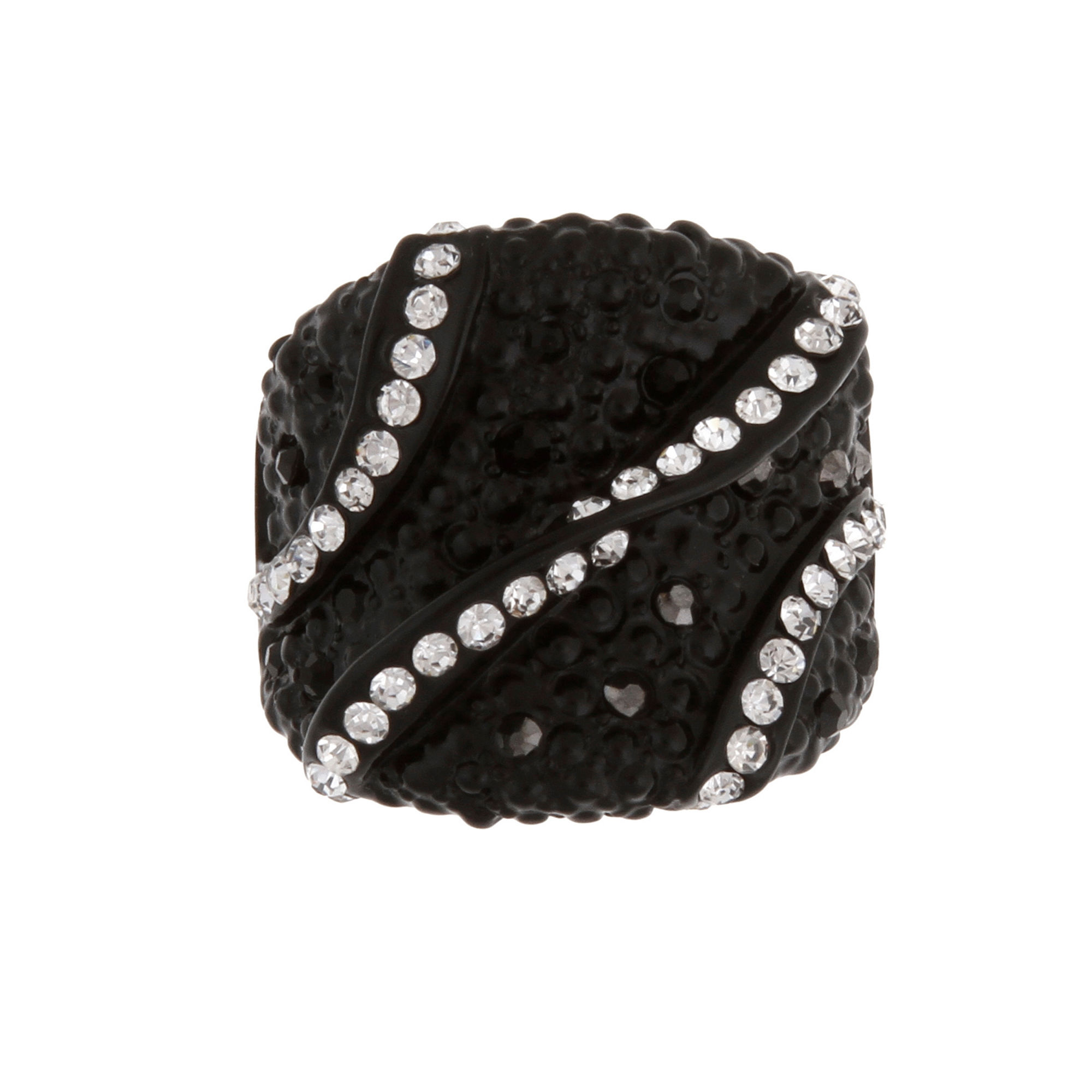 Mixit™ Black Crystal Stretch Ring