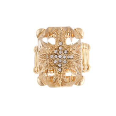 jcpenney.com | Mixit™ Crystal Gold-Tone Stretch Ring