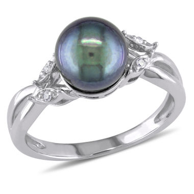 jcpenney.com | Black Cultured Freshwater Pearl & Diamond Accent 10K White Gold Ring
