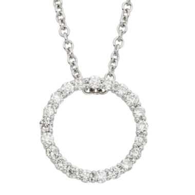 jcpenney.com | 14K White Gold Diamond Certified Circle Pendant Chain