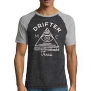 Arizona Short-Sleeve Raglan Moto Tee