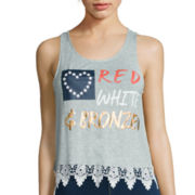 Miss Chevious Crochet Hem Tank Top