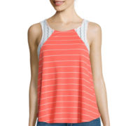 Self Esteem® Lace Inset Tank Top