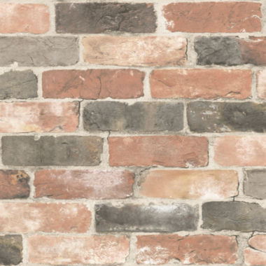 jcpenney.com | NuWallpaper Newport Reclaimed Brick Peel and Stick Wallpaper