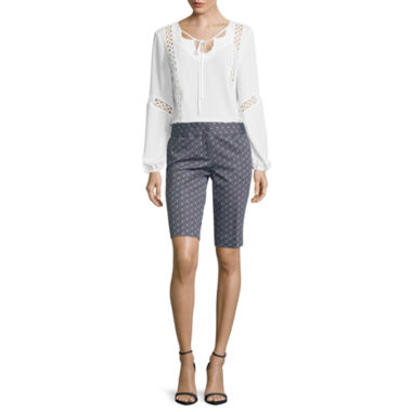 jcpenney.com | Worthington® Peasant Blouse or Sateen Bermuda Shorts