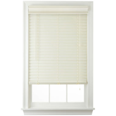 "jcpenney.com | JCPenney Home™ Cut-to-Width 2"" Faux-Wood Horizontal Blinds"