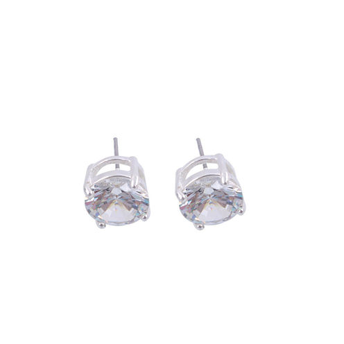 Monet® Crystal Silver-Tone Stud Earrings