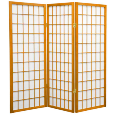 Oriental Furniture 4 Ft Tall Window Pane Shoji Screen Room Divider