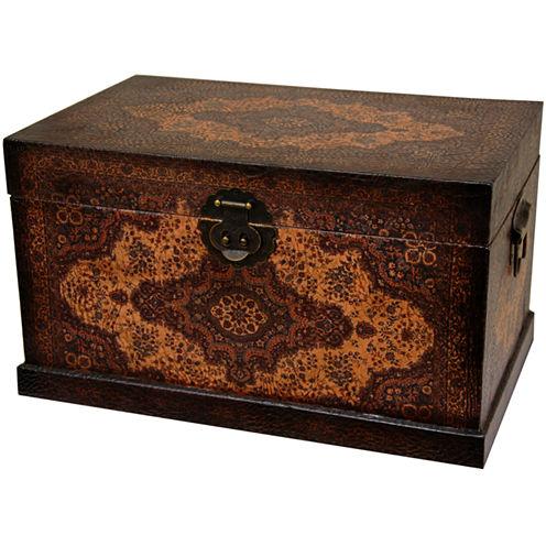 Oriental Furniture Olde-Worlde Baroque Storage Trunk