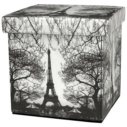 Oriental Furniture Eiffel Tower Footstool