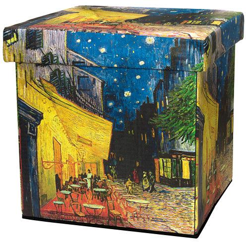 Oriental Furniture Van Gogh Cafe At Night Footstool