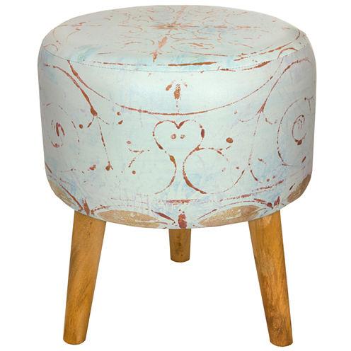 Oriental Furniture Winter Peace Footstool