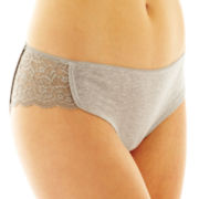 Flirtitude® Lace-Trim Dolphin Hipster Panties