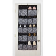 Kennedy Damask 10-Pair Hanging Shoe Organizer