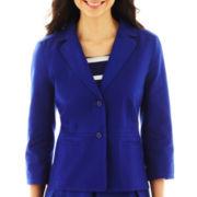 Liz Claiborne 3-Button Cotton Jacket