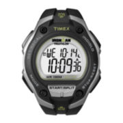 Timex® Ironman Mens Black Resin Strap Chronograph Sport Watch T5K412