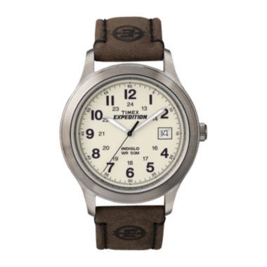 jcpenney.com | Timex® Expedition® Newness Mens Leather Strap Field Watch T49870