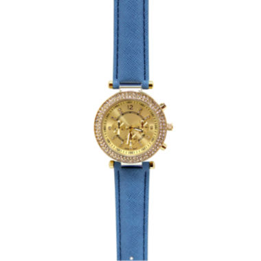 jcpenney.com | Womens Hinged Faux Leather Strap Fashion Watch