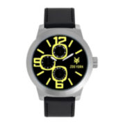 Zoo York® Mens Faux Leather Strap Watch