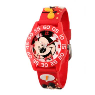 jcpenney.com | Disney Mickey Mouse Easy-Read Plastic Strap Watch