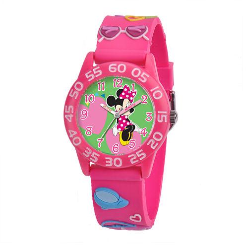 Disney Minnie Mouse Easy-Read Plastic Strap Watch