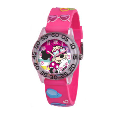 jcpenney.com | Disney Minnie Mouse Easy-Read Plastic Strap Watch