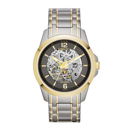 Relic® Mens Two-Tone Stainless Steel Automatic Watch ZR12109