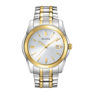 jcpenney.com | Bulova® Mens Two-Tone Stainless Steel Watch 98H18