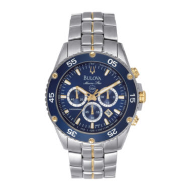 jcpenney.com | Bulova® Mens Two-Tone Stainless Steel Chronograph Watch 98H37