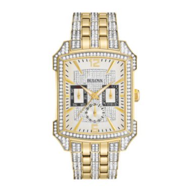 jcpenney.com | Bulova® Mens Two-Tone Crystal-Accent Watch