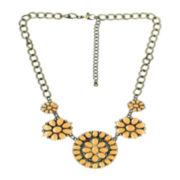 Decree® Epoxy Flower Statement Necklace