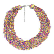 Decree® 20-Row Seed Bead Statement Necklace
