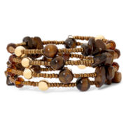 Mixit™ Seed Bead & Shell Coil Bracelet