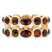 Monet® Brown & Gold-Tone Stretch Bracelet