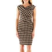 Danny & Nicole® Cap-Sleeve Houndstooth Dress