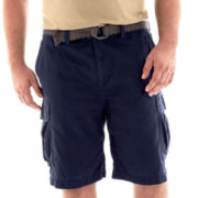 The Foundry Supply Co.™ Belted Solid Cargo Shorts-Big & Tall