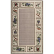 Fresh Fruit Washable Rectangular Area Rugs