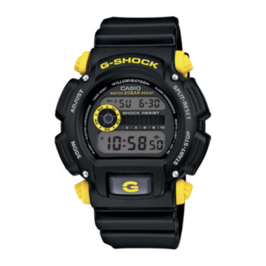 jcpenney.com | Casio® G-Shock Mens Black Resin Strap Sport Watch DW9052-1C9CR