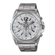 Casio® Edifice Tough Solar Mens Stainless Steel Chronograph Watch