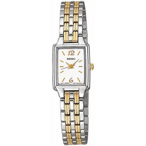 Seiko® Womens Two Tone Quartz Dress Watch SXGL59