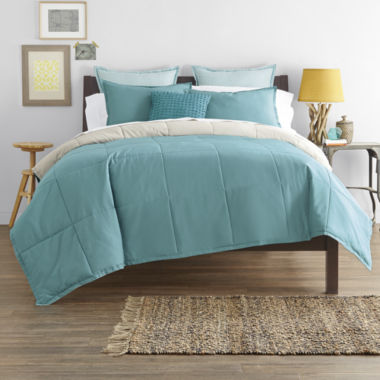 jcpenney.com | JCPenney Home™ Cotton Classics Solid Reversible Comforter & Accessories