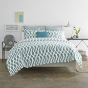 JCPenney Home™ Cotton Classic Borderline Reversible Comforter & Accessories